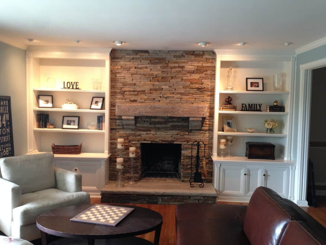 Fireplace Revitalization Project – Stone Facing – Chatham New Jersey