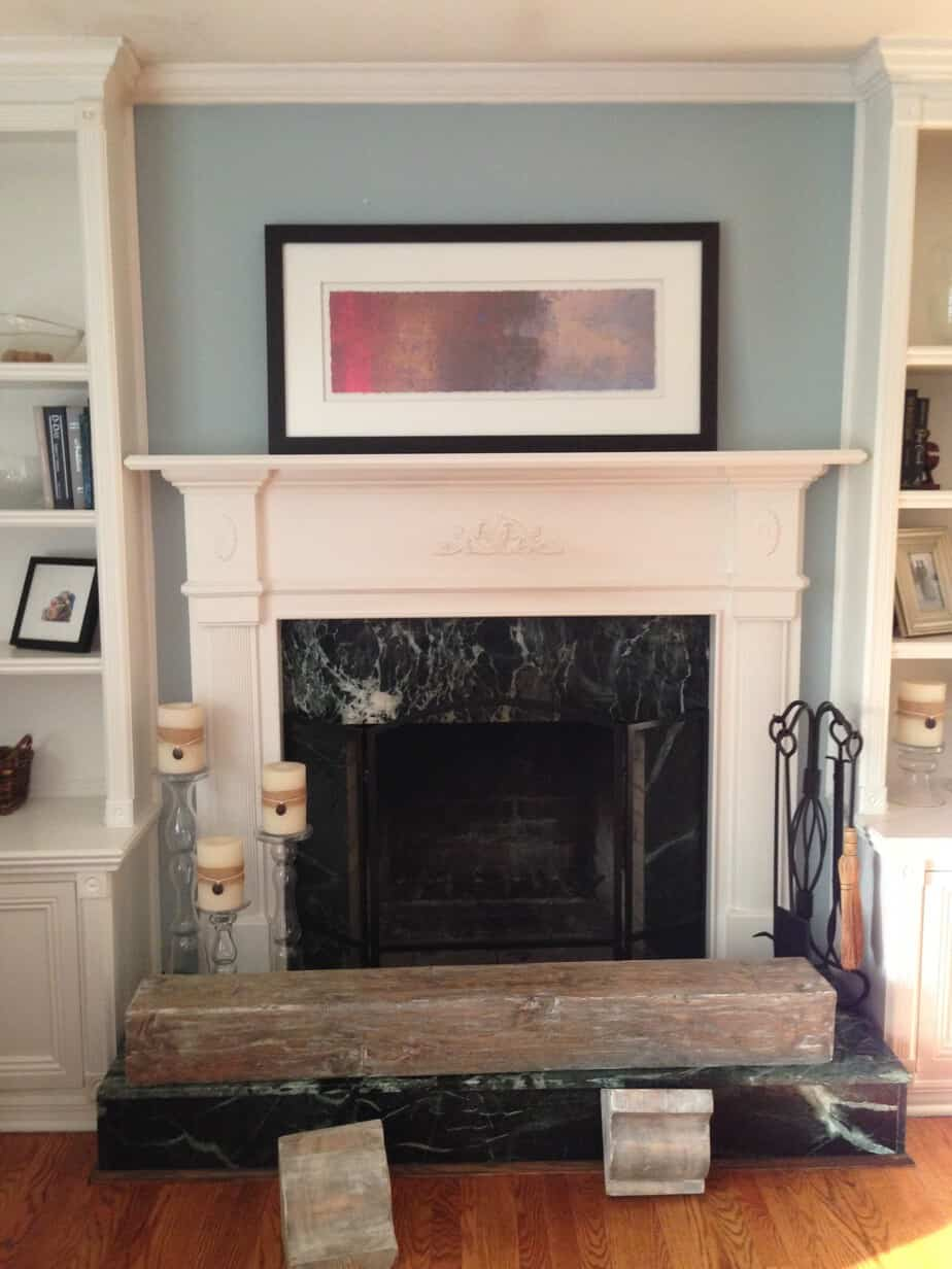 fireplace revitalization project facing chatham