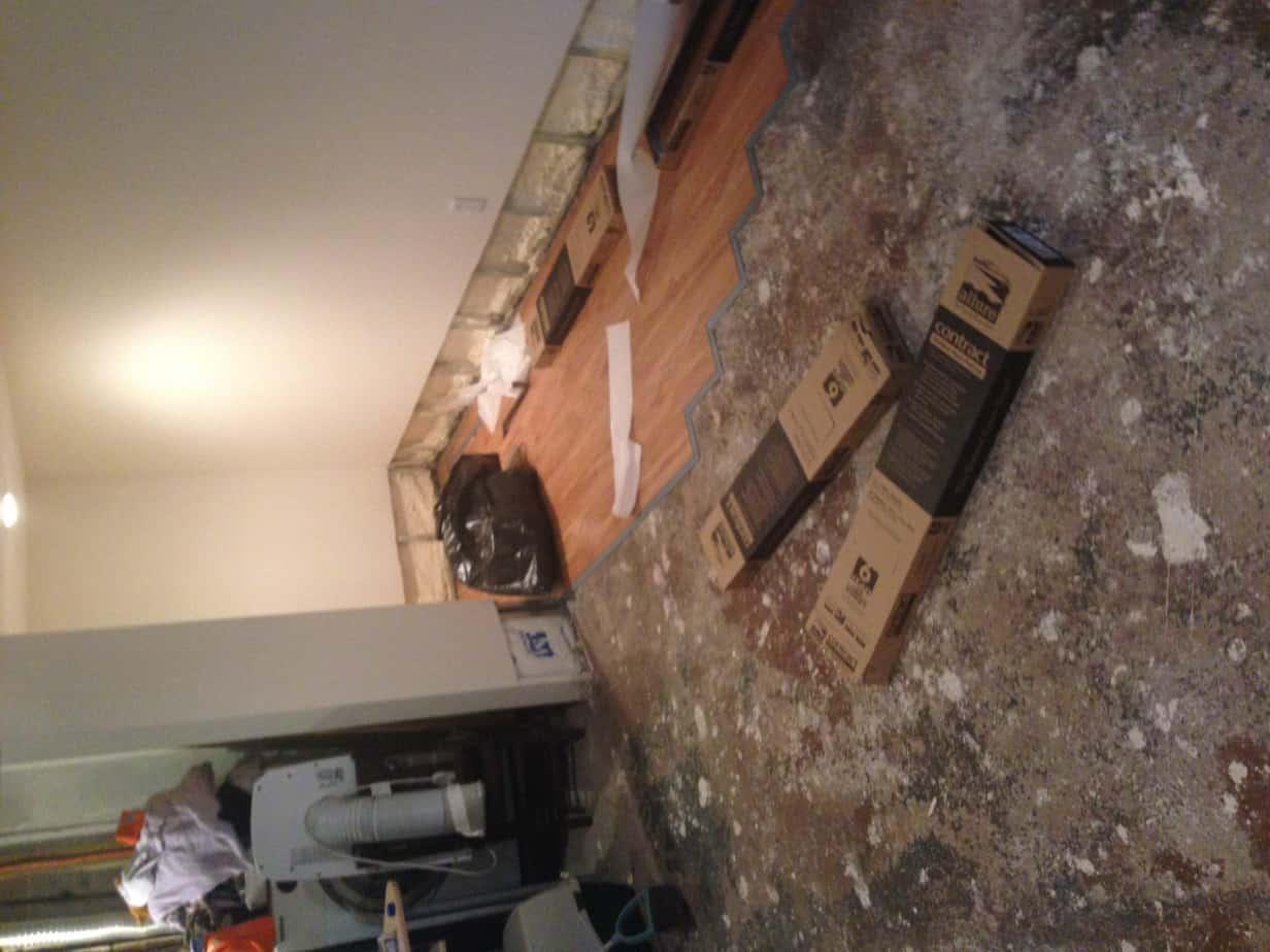 Flooding Repair Hardwood Floor Sheetrock Trim And