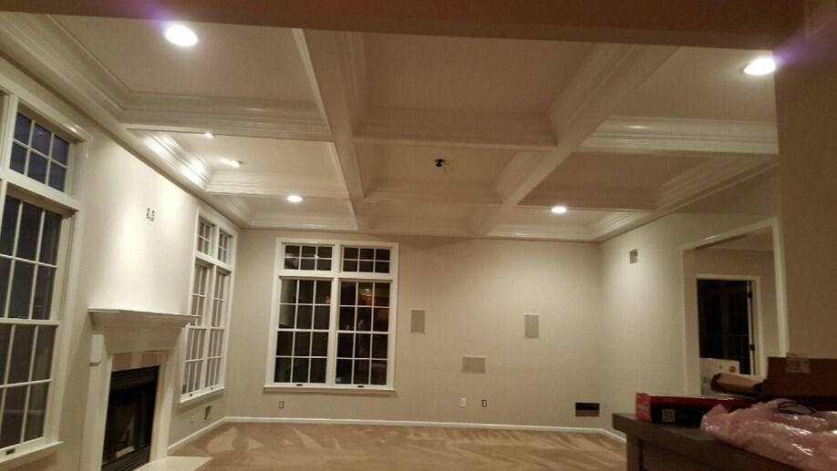 Residential interior house painting new trim mendham nj Pictures of new homes interior