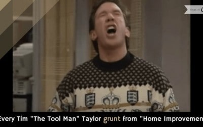 "Every Tim ""The Tool Man"" Taylor grunt from ""Home Improvement"""