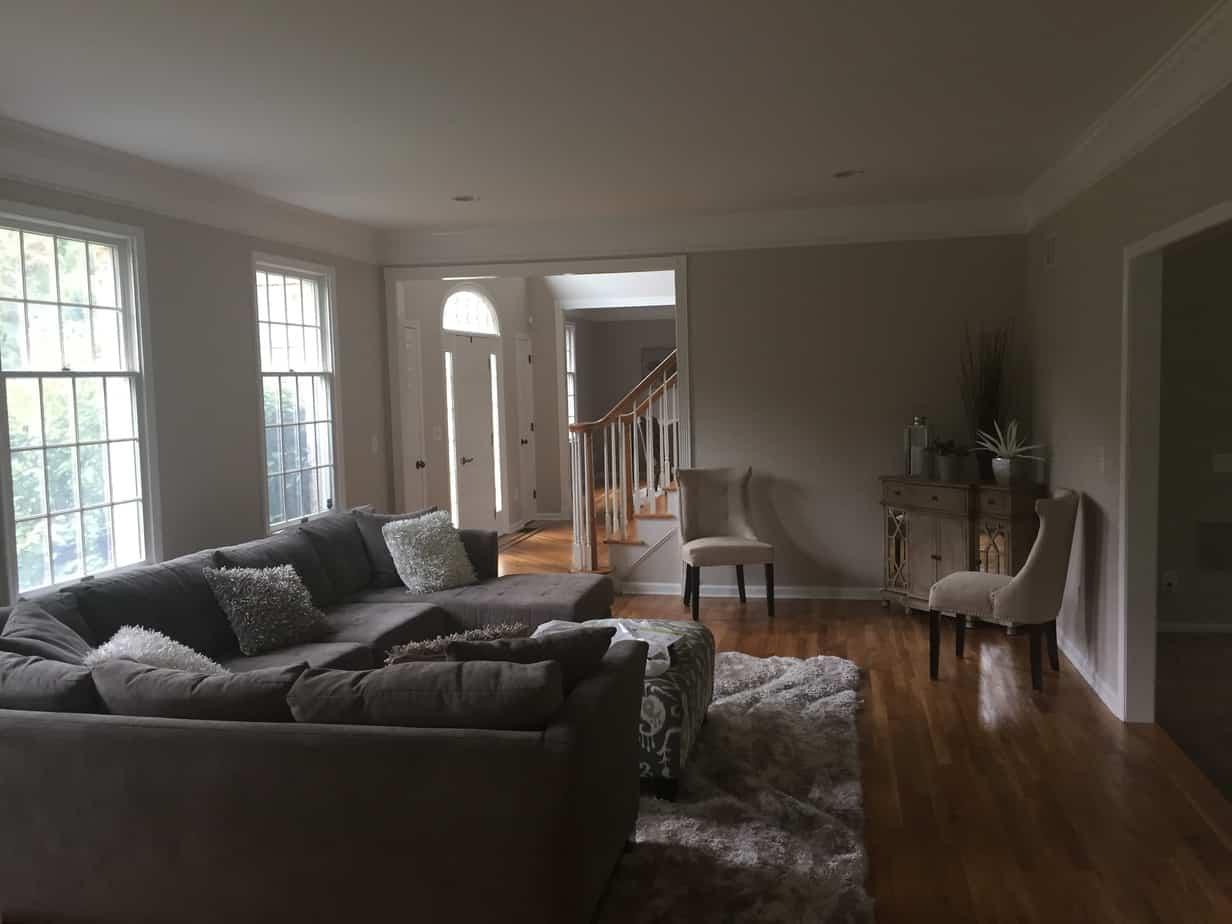 residential interior house painting new trim mendham nj