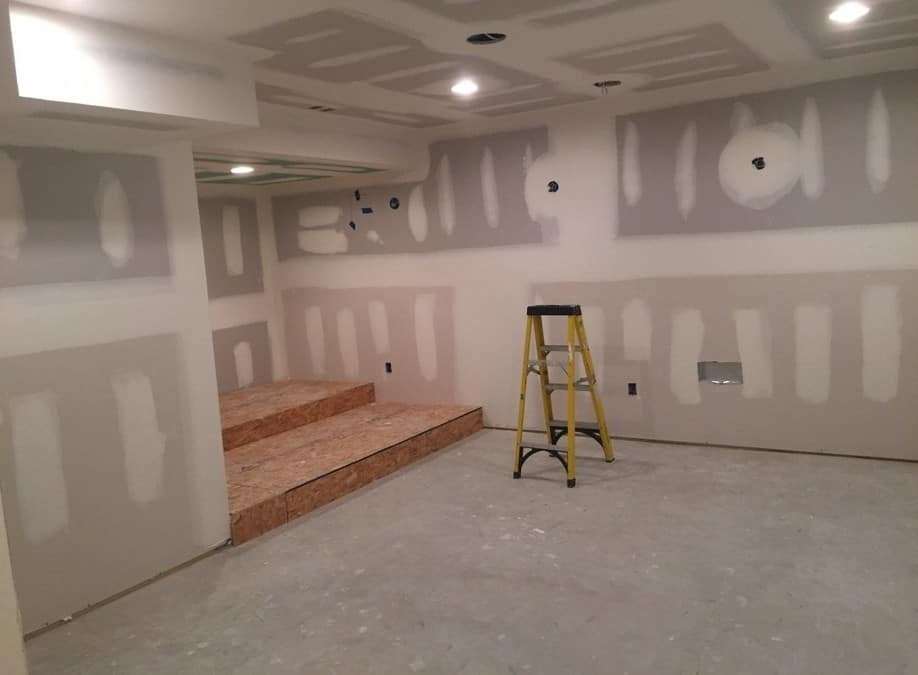 Residential Basement Buildout and Remodel in Flanders New Jersey.