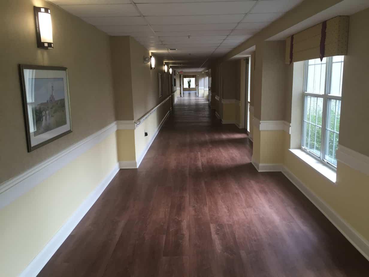 retirement building u0026 village hallway remodel