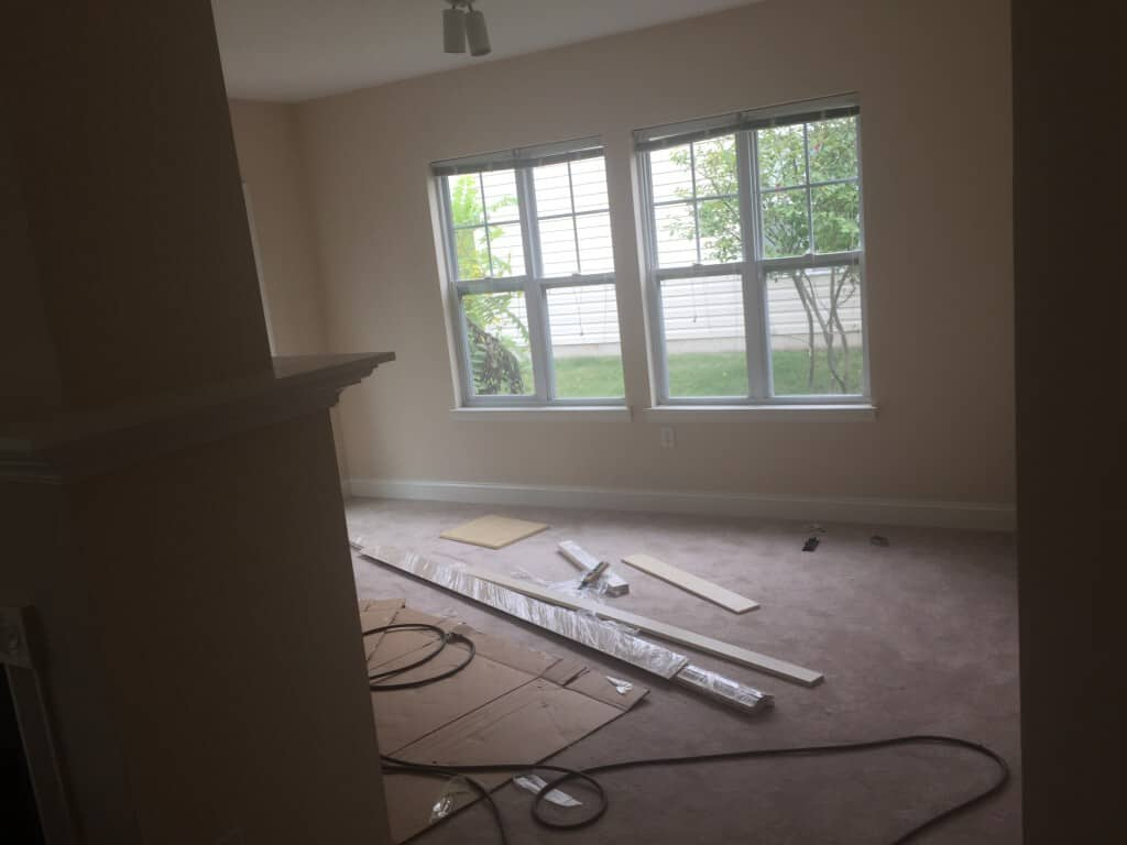 House Remodel and Renovation – During Photos – Skillman NJ