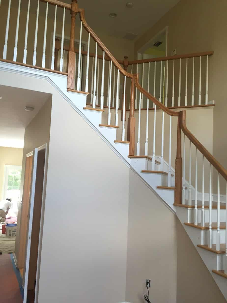 Stair Railings Painted Black Mendham