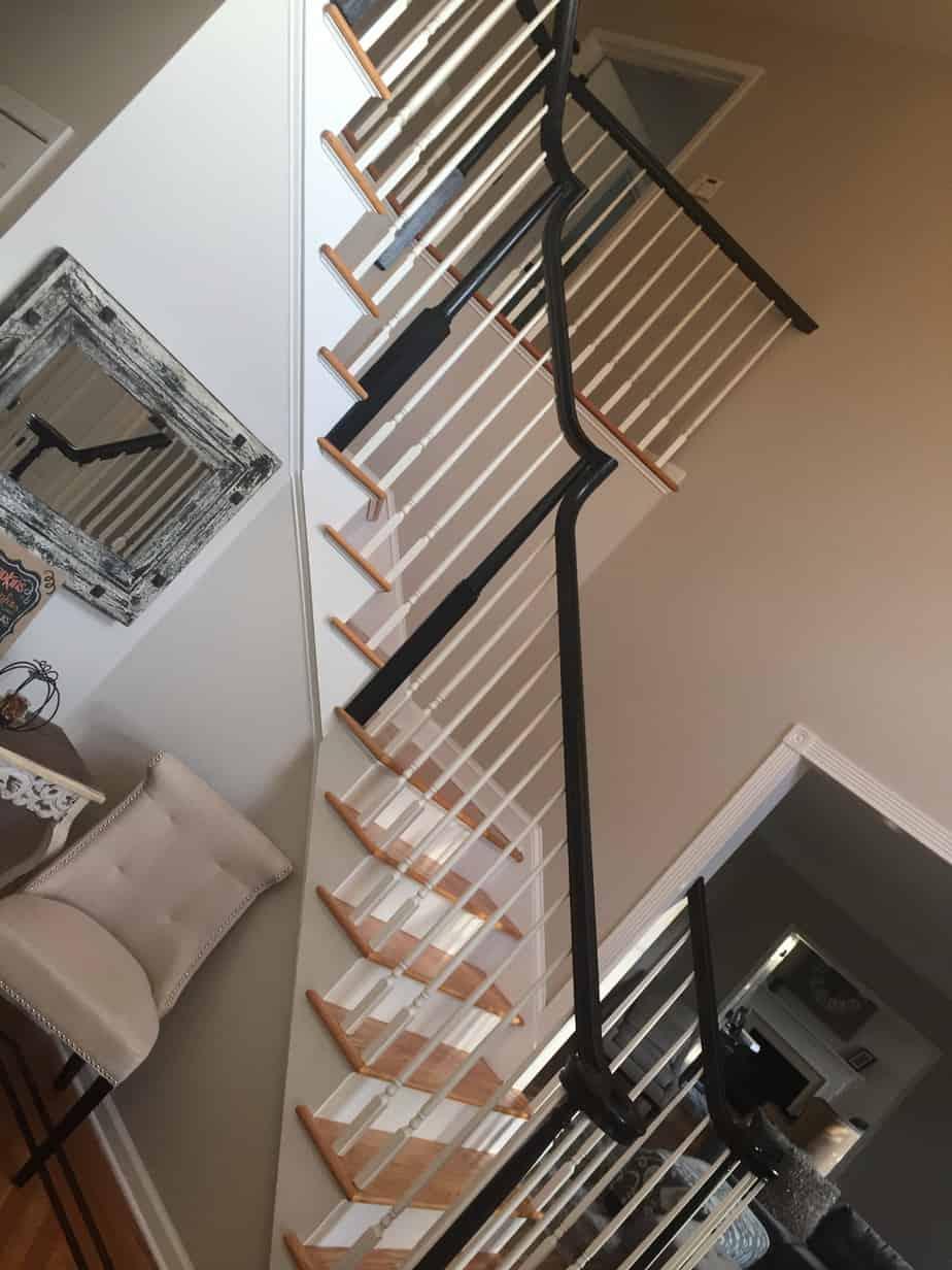 Stair Railings Painted Black Mendham