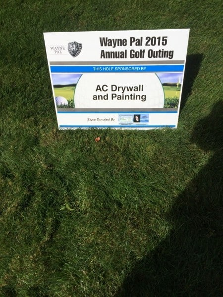 AC Drywall and Painting - Wayne PAL Golf Outing