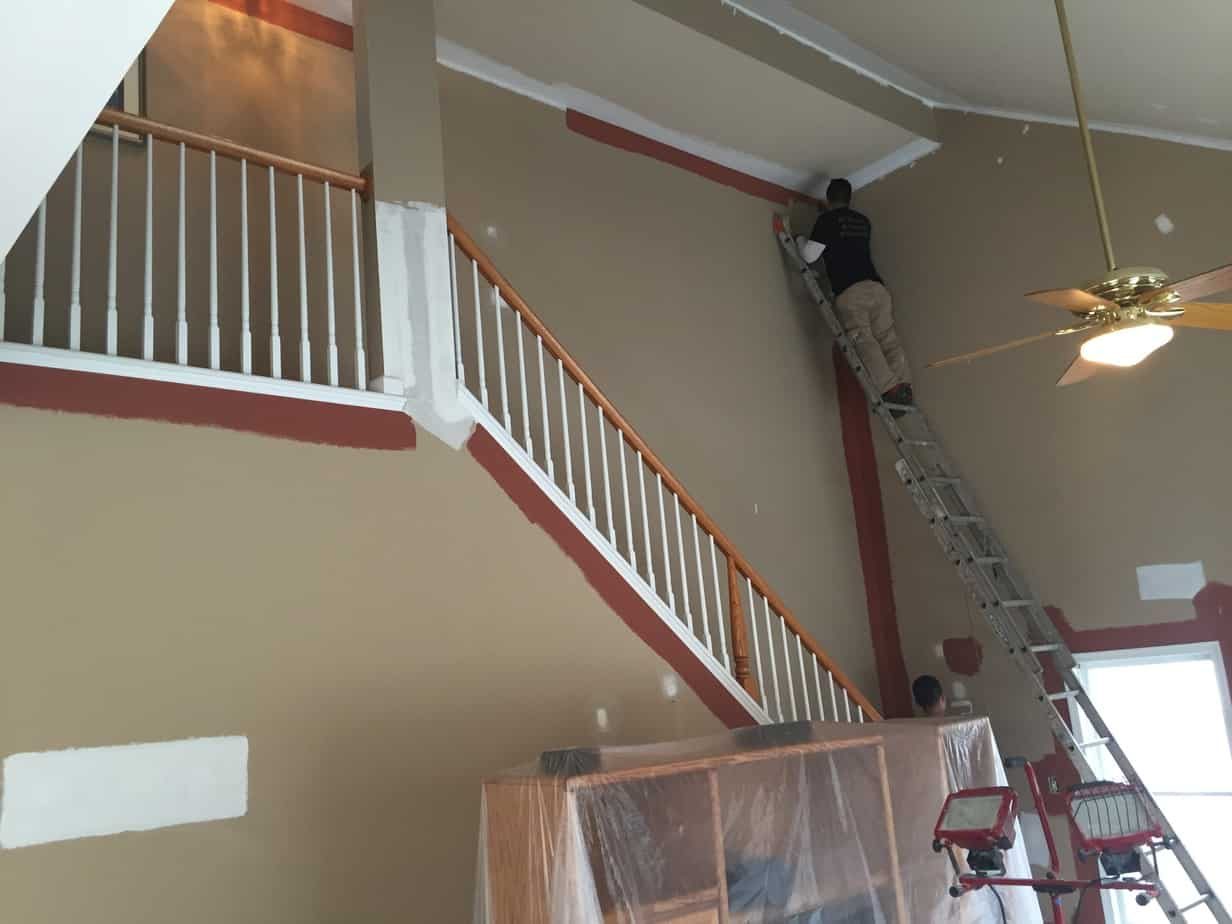 Interior House Painting Project Flanders Ac Drywall